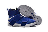 Мужские баскетбольные кроссовки Nike Lebron Soldier 10 Blue/White