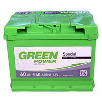 Аккумулятор 60 Аз 6СТ 540А(EN) (-/+)  Green Power