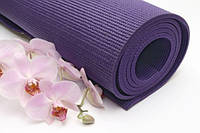 Йога мат фиолетовый GreenCamp 6мм PVC
