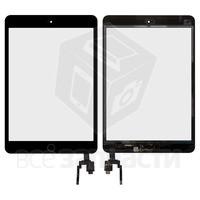 Apple iPad Mini 3 Retina черный с кнопкой Home емкостной тачскрин (сенсор)