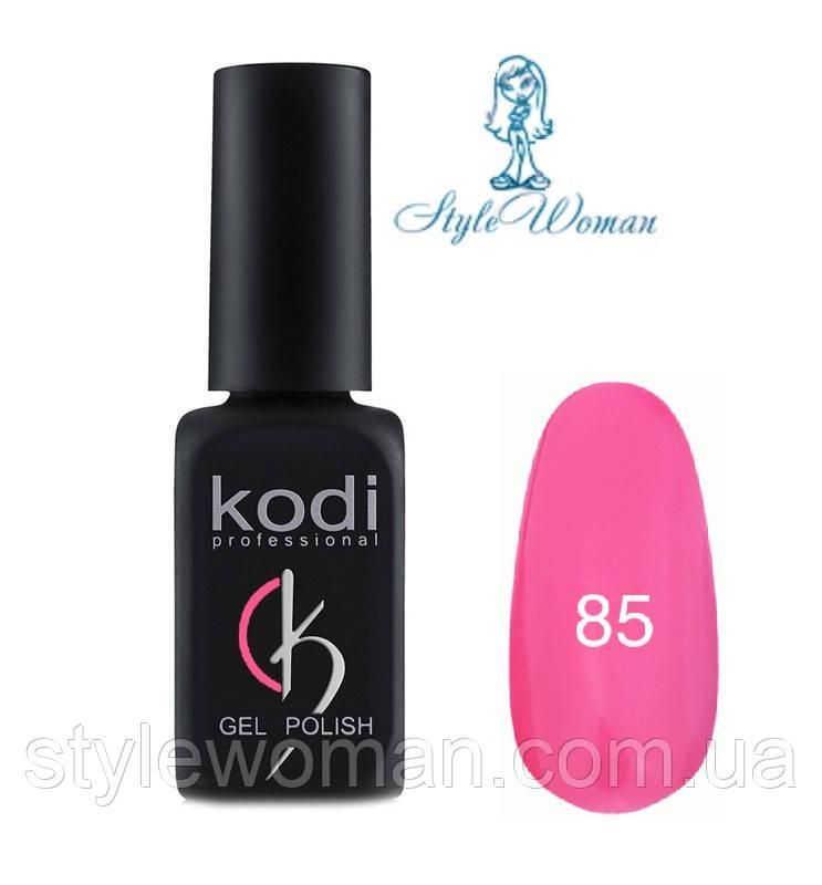 Kodi professional гель лак Коди 85 насыщенный розовый эмаль 8мл