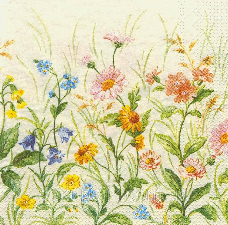Салфетка декупажная Полевые цветы 2326