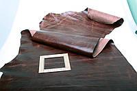 Кожа коричневая эффект - легкая потертость 81