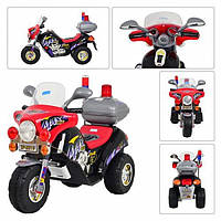 Мотоцикл трехколесный с багажником и мигалкой 912 red