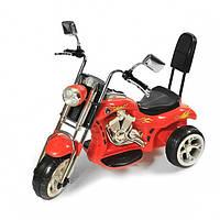 Мотоцикл для детей Харлей со спинкой 6692 red