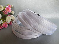 Обруч металлический обшитый тканью, БЕЛЫЙ, 1,0 см