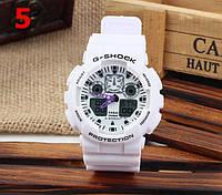 Часы Casio G-Shock GA100, белые , наручные часы, мужские часы, электронные, спортивные часы