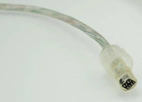 Коннектор для RGB 4pin светодиод. ленты LD107 10мм (5050)провод-коннектор мама-зажим ip65 Код.57420