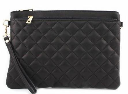 bd239ed50988 Женская кожаная сумка клатч BC503 черная — купить в Киеве недорого