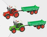 Трактор инерционный 2009-84 с прицепом, под слюдой 35*8, 5*11см