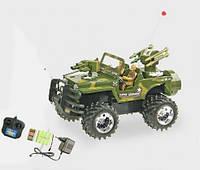 Машина-джип аккум р/у HQ3010 военный, пульт на батар., от 3-х лет, в коробке 43*20*19, 5см