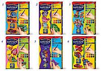 Набор Барельеф гипсовый малый Danko toys, 4 фигурки на магнитах, 6 видов