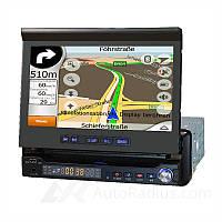 """Автомагнитола 1DIN DA-765G GPS с выдвижным экраном 7"""" дюймов, HD 800x480, FM тюнер, DVD"""