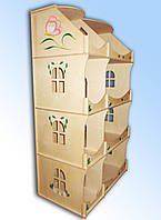 Кукольный домик-шкаф с росписью, HEGA