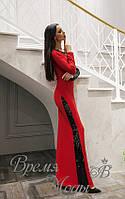 Вечернее красное платье в пол. Р-р: S, M.