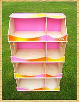 Кукольный домик-шкаф радужный с росписью, HEGA