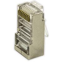 ✱Коннектор Lesko RJ-45 UTP Metall для кабеля типа Витая пара металл (50шт.)