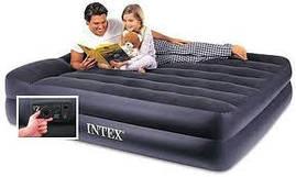 Надувная кровать Интекс со встроенным насосом 203*157*47