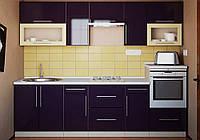 Кухня с гладкими фасадами МДФ 2,8 м Альфа-Мебель