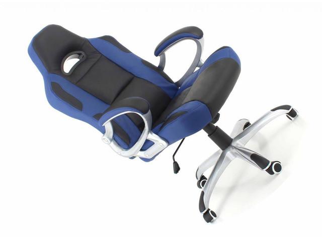 Офисное компютерное кресло RACER сине-черное