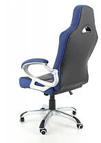 Офисное компютерное кресло RACER сине-черное, фото 3