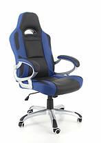 Офисное компютерное кресло RACER сине-черное, фото 2