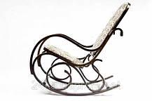 Кресло качалка темное ткань цветы , фото 3