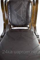 Кресло-качалка PBT Group темно-ореховое кожаное, фото 2