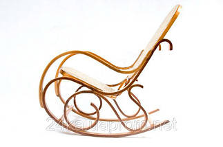 Кресло качалка светлое сетка , фото 3