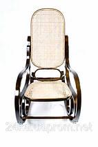 Кресло качалка ореховое сетка , фото 3