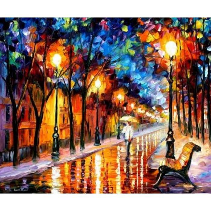 Картина по номерам Дождливая осень КНО2624 Идейка