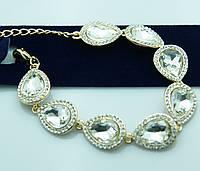 Кристальный вечерний браслет. Новогодние украшения от Бижутерии оптом RRR. 964