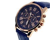 Женские часы синего цвета Geneva (123)