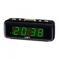 Часы сетевые VST 738-4 салатовые