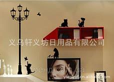 Дизайнерская наклейка Котики, фото 2