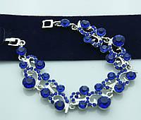 Яркий фигурный браслет с кристаллами. Женские украшения оптом недорого. 979