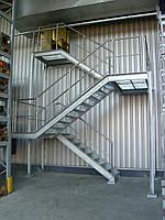 Пожарные лестницы с площадками