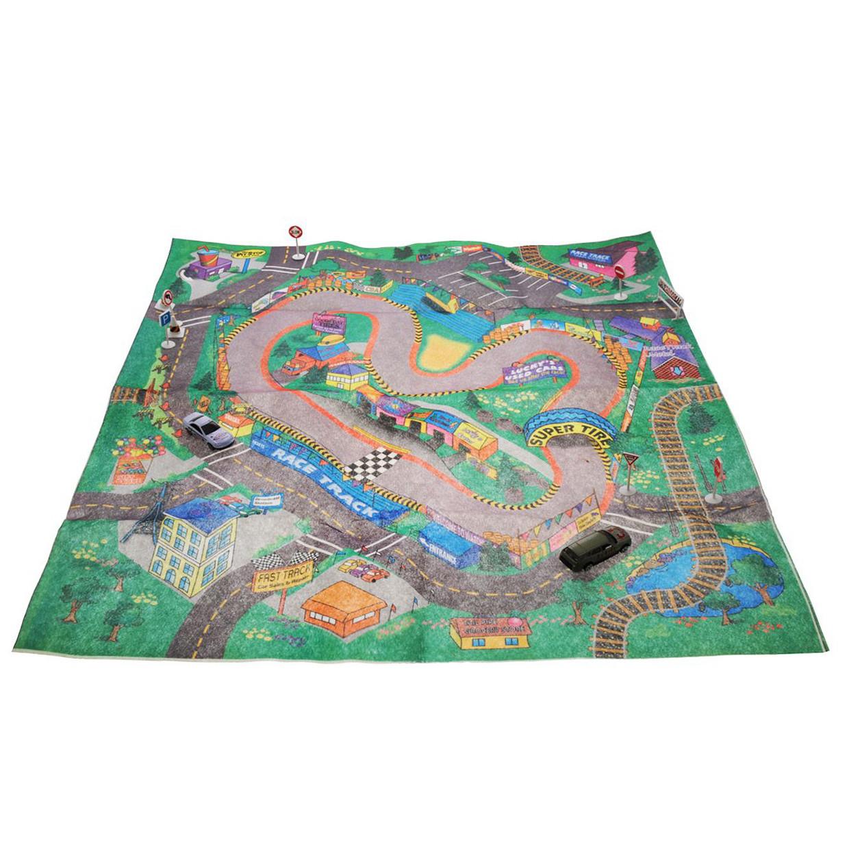 """Игровой коврик с машинкой и знаками дорожного движения """"Мой город"""", 69х78,5 см «Big Motors» (89631)"""