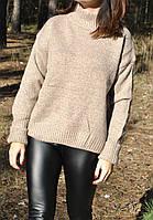 Теплейший модный свитер,75% шерсти, фото 1