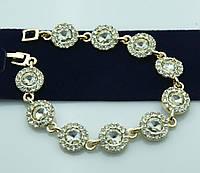 Нежные украшения -вечерний браслет в кристаллах оптом. Бижутерия низких цен для женщин. 991