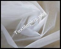 Тюль фатин белый однотонный