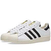 Оригинальные  кроссовки  Adidas Superstar 80s White, Black & Chalk