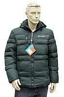 Мужская зимняя  куртка в стиле Columbia очень теплая зеленая