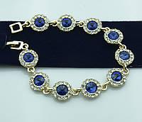 Гламурные украшения -вечерний браслет в кристаллах оптом. Праздничная бижутерия оптом. 993