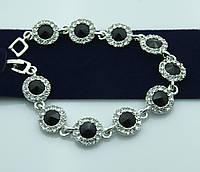 Серебристая бижутерия -вечерний браслет в кристаллах оптом. Состоятельные украшения оптом недорого. 996
