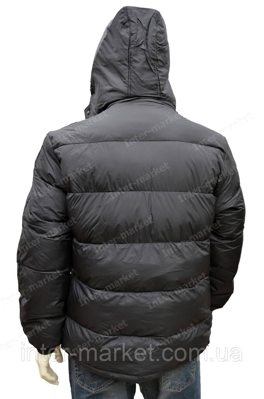 6314efa4 Мужская зимняя куртка с капюшоном очень теплая черная - интернет магазин