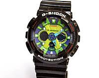 Многофункциональные часы Casio G-Shock GA-200(черные с салатовым), карцевые, мужские, спортивные, наручные