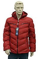 Мужская зимняя куртка с капюшоном  зима 2016/2017 очень теплая оранжевая