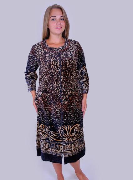 Женский халат велюровый Леопард