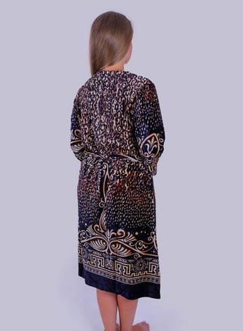 Женский халат велюровый Леопард, фото 2